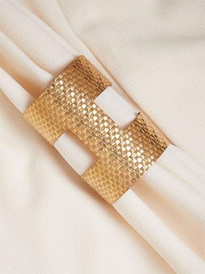 Patterned Golden Cuff Bracelet