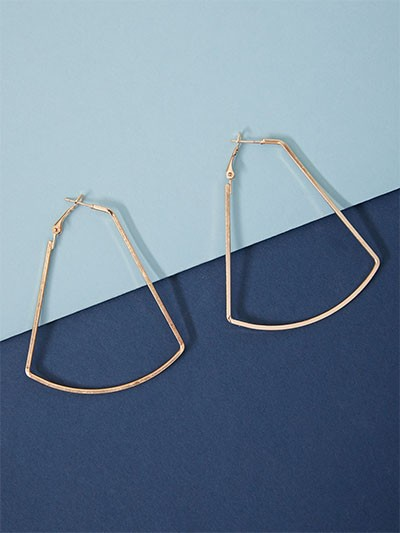 Golden Geometrical Hoop Earrings