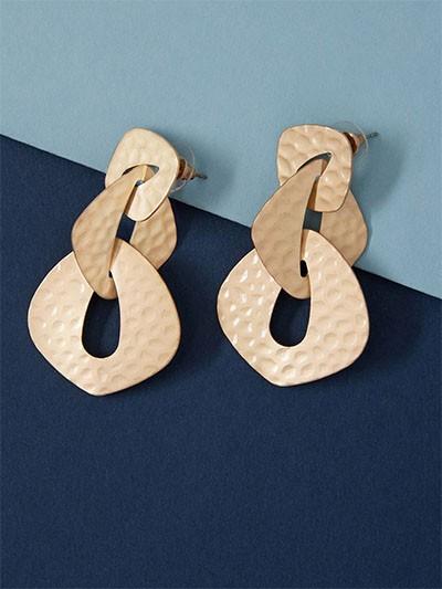 Golden Chain-Knot Earrings