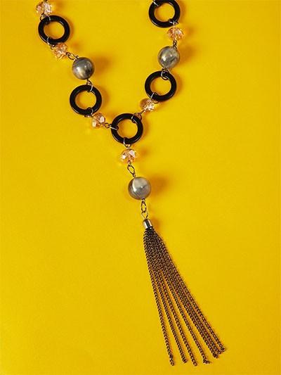 Black Contemporary Necklace