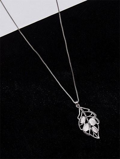 Silver Leaf Western Necklace