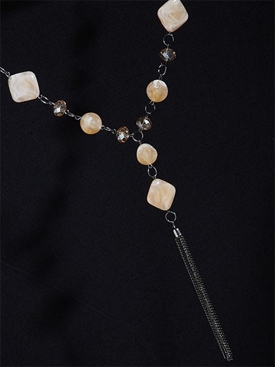 Cream Contemporary Necklace For Women