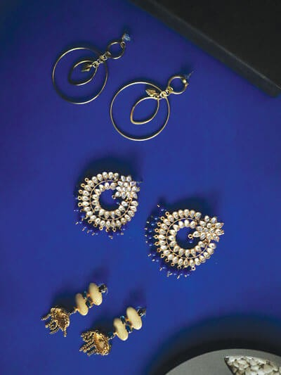 Set of Classic Contemporary and Ethnic Earrings