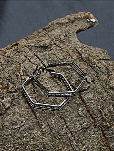 Silver Geometrical Earrings