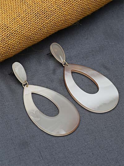 Brown Blue Drop Earrings