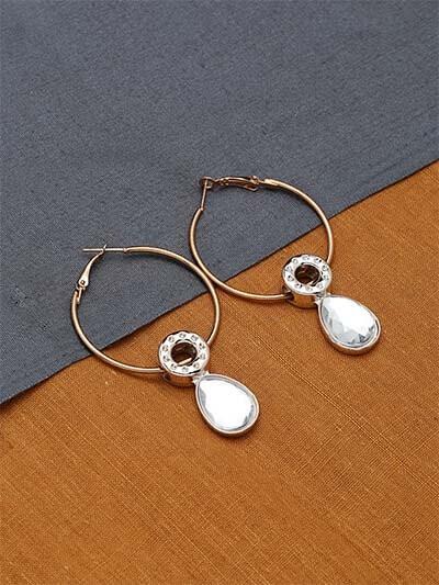 Golden and Silver Hoop Earrings