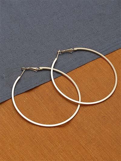 Big Golden Classic Hoop Earrings