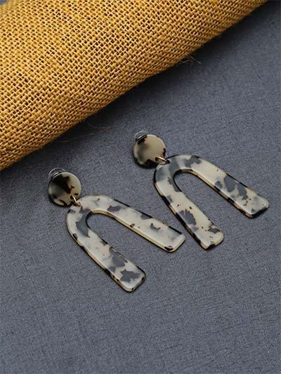 Textured Dangle Earrings
