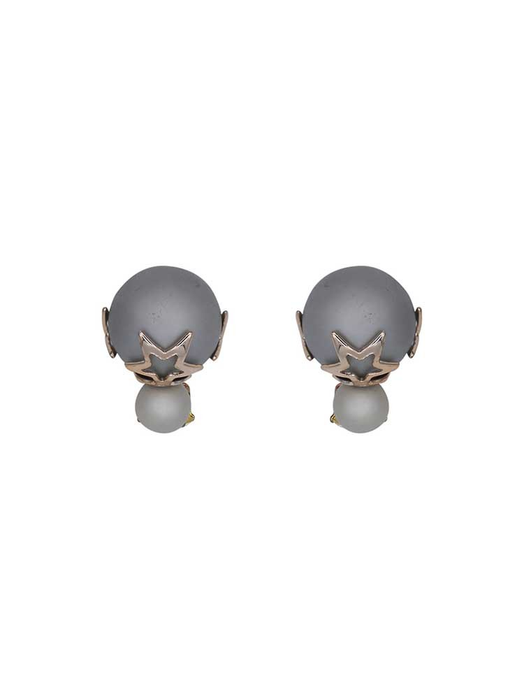 Charcoal Grey Interchangeable Western Earrings