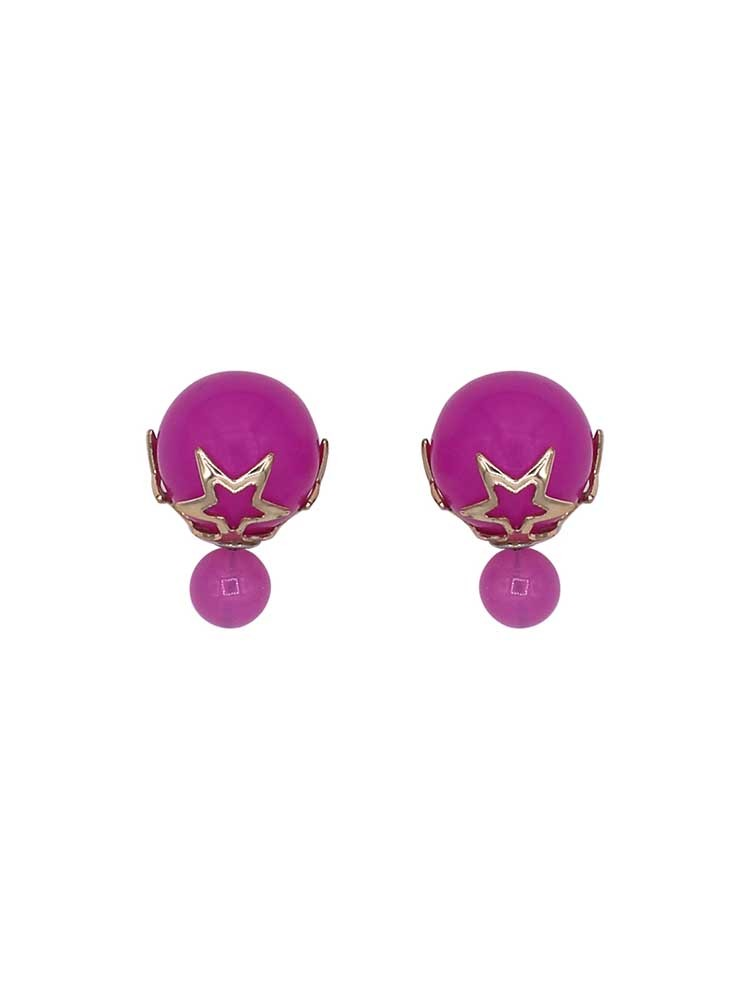 Electric Pink Interchangeable Fashion Western Earrings