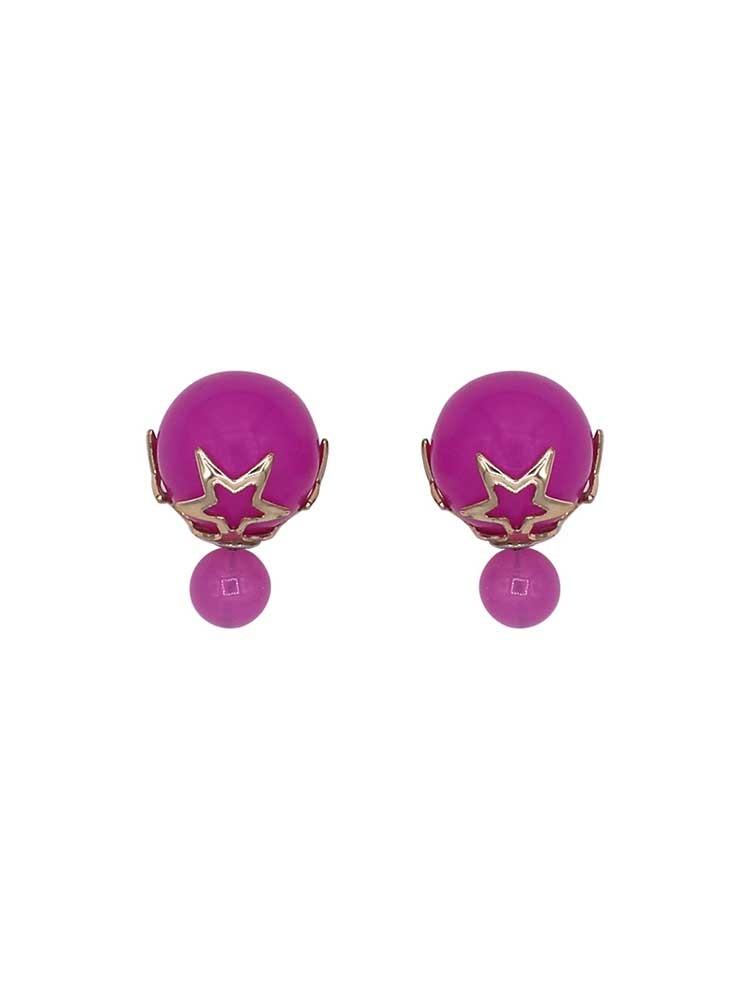 Electric Pink Interchangeable Fashion Western Earrings