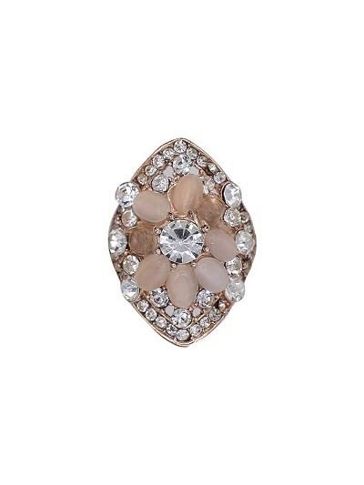 Sparkle Bubble Rose quartz Handmade Jewellery Ring