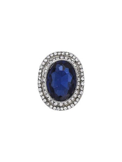 Cobalt Blue Studded Handmade Jewellery Ring