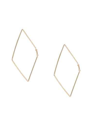 Lightweight Golden Big Square Earrings