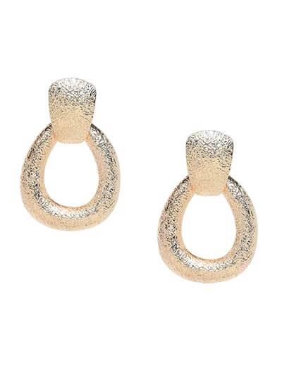 Textured Golden Hoop Earrings