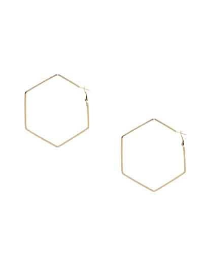 Lightweight Golden Classic Geometrical Earrings