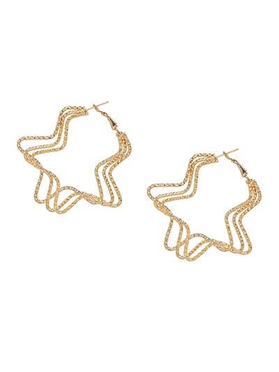 Lightweight Golden Star Earrings