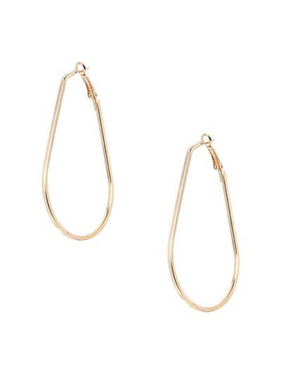 Lightweight Golden Geometrical Earrings