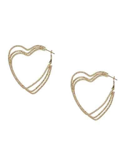 Lightweight Golden Heart Earrings