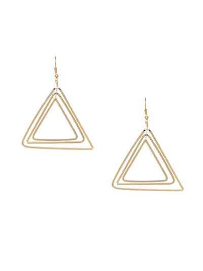Lightweight Golden Multiple Star Earrings