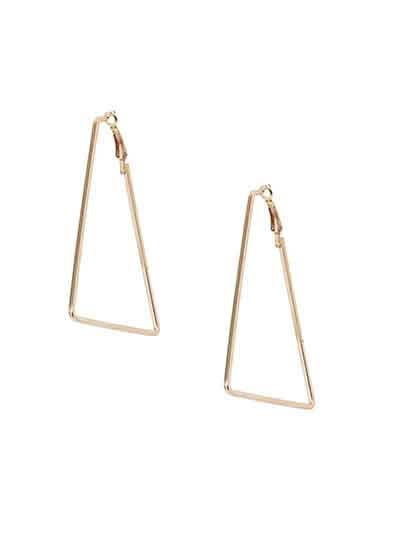 Lightweight Golden Triangular Earrings