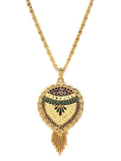 Multicolored Floral Ethnic Pendant Necklace