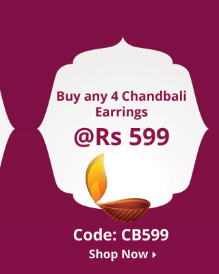 4 chandbali earrings at 599