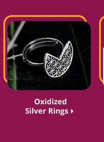 oxidized silver rings