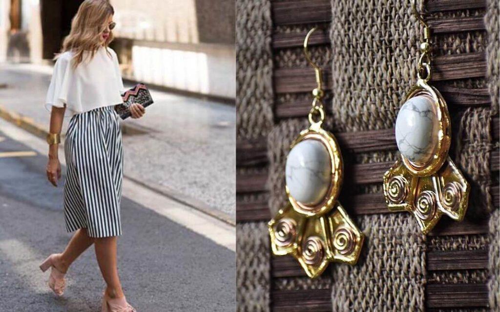 Create a classic fusion look with ZeroKaata's Designer Earrings