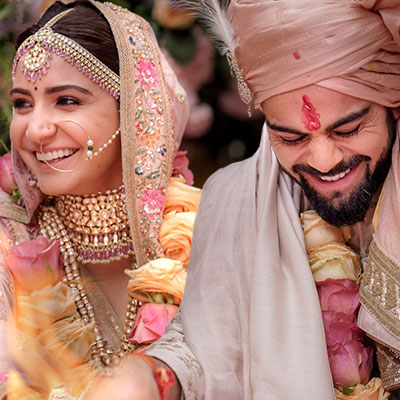 Anushka Sharma & Virat Kohli are a married couple now! #Virushka is #CoupleGoals