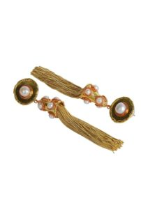 peach brass earring