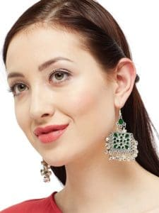 Emerald Chandbali Earrings