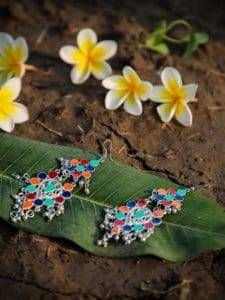 Telisa Multicolor Midsummer Party Chandbali Earrings