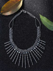 Tribal design tassel necklace