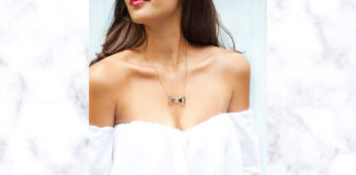 How to style Jewellery with an Off Shoulder dress