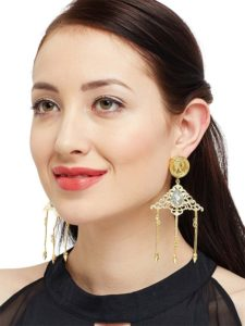 Crystal Designer Baroque Party Wear Earrings