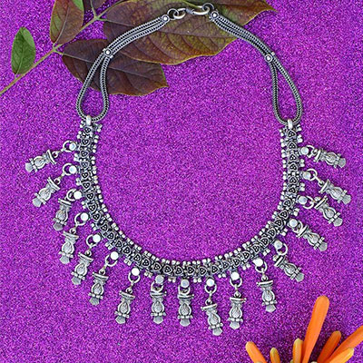 Vintage Season Silver Jewellery Necklace