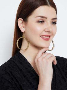 Multiple circular hoops Gold Plated Designer Western Earrings