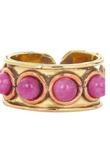Chunky Beaded Ruby Handmade Jewellery Ring