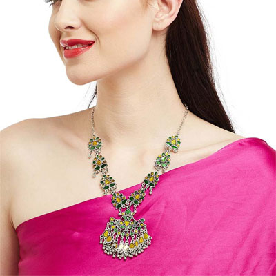 Shower me Sun Silver Traditional Occasion Wear Fashion Necklace
