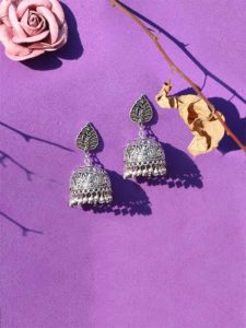 L'Affaire Silver Traditional Tribal Jewellery Jhumki