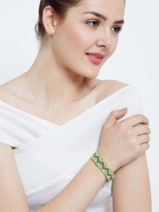 Yellow Seed Beads Handmade Jewellery Bracelet for Women
