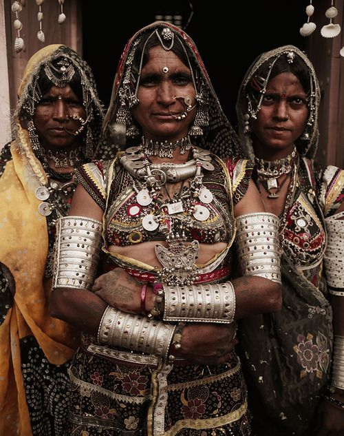 Traditional attire and jewellery of Rajasthan-tribal look