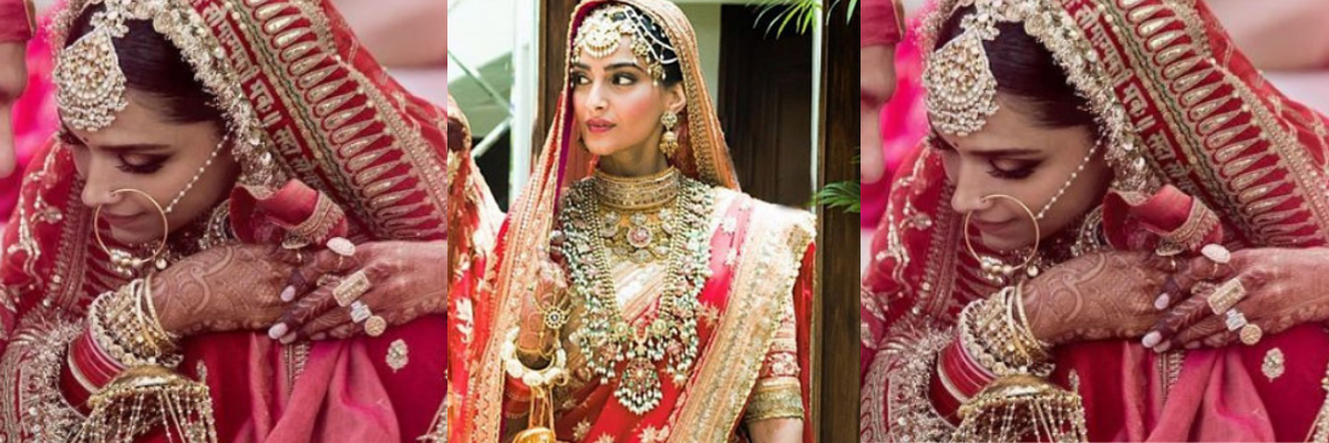 Deepika's Statement Maang Tika or Sonam's Multi-stranded Mathapatti? What will you pick?