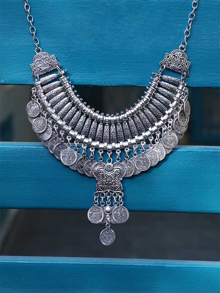 Amazing Oxidized Silver Necklaces Under Rs 500 4