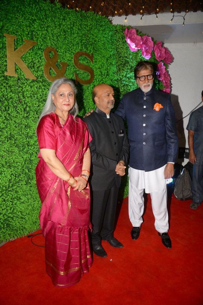 Bollywood Glitters at Lyricist Sameer's Daughter's Wedding Reception 1