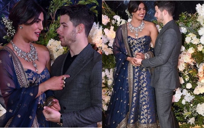 PRIYANKA'S STATEMENT NECKLACE FOR HER MUMBAI RECEPTION IS WHAT EVERY WOMAN'S WEDDING DREAMS ARE MADE OF!