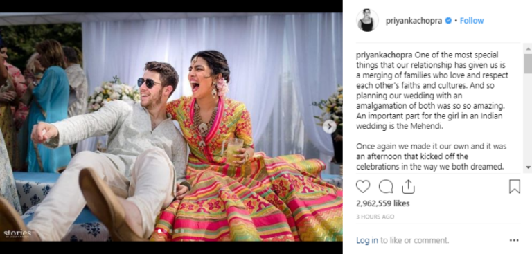 "PRIYANKA'S MEHANDI LOOK WILL MAKE YOU SAY ""THERE'S NOBODY LIKE OUR DESI GIRL"""