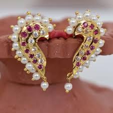 Goa traditional jewellery-kaan earrings