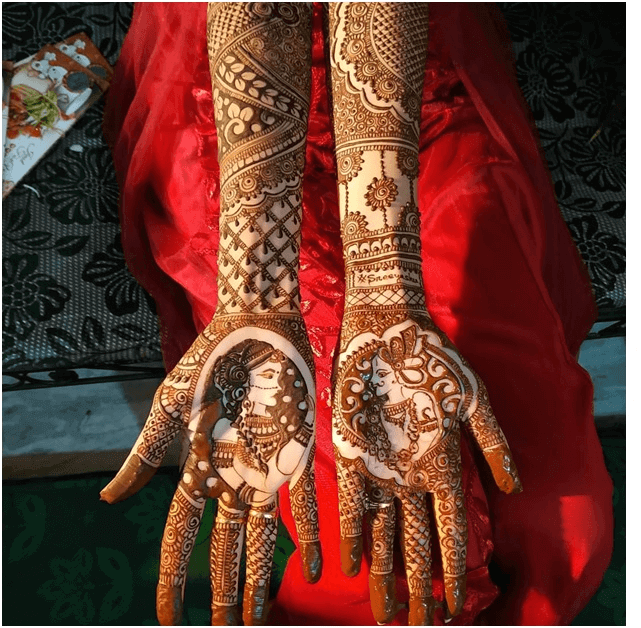 bridal mehndi design for full hands